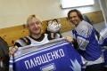 Плющенко и Мостовой на льду дворца «Орбита»